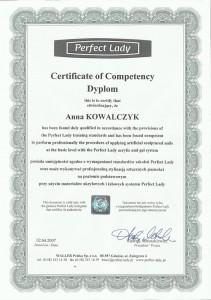 Certyfikat stylizacji paznokci na formie i tipsach metodą żelową i akrylową