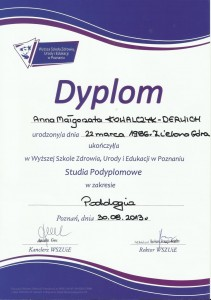Dyplom - specjalizacja podologia